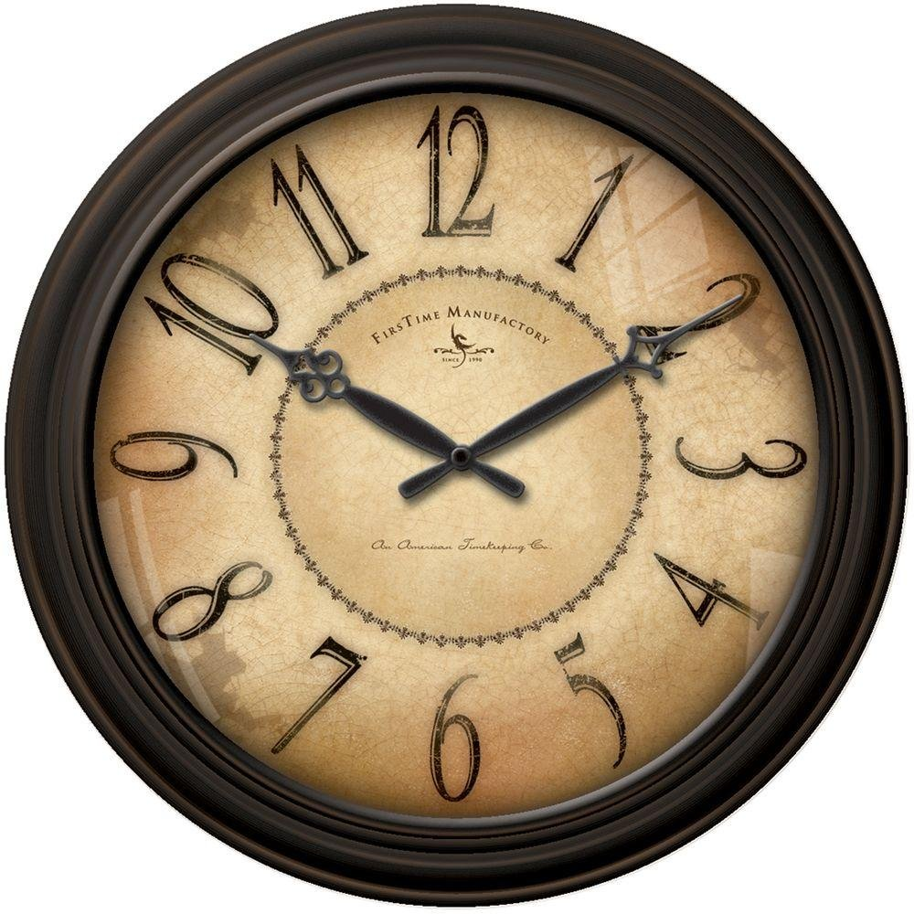 Amazon.com: 18 in. Round Taylor Road Wall Clock: Home & Kitchen