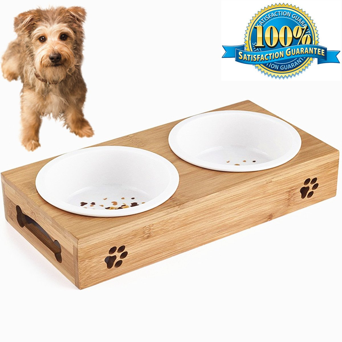 for pet stand com ceramic pine pin tilted solid bowl cat dining bowls vivipet table mykonos elevated feeder with platform raised amazon