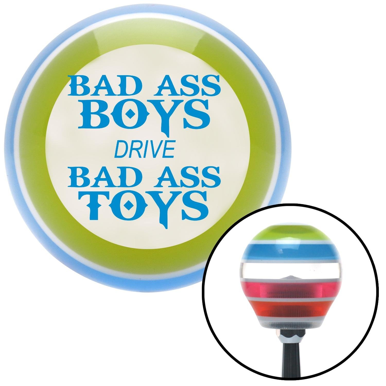 Blue Bad Ass Boys Drive Bad Ass Toys American Shifter 137720 Stripe Shift Knob with M16 x 1.5 Insert