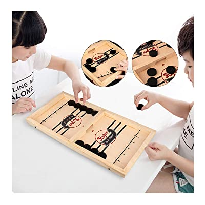 Fast Sling Puck Game, Table Desktop Battle 2 in 1 Ice Hockey Game, Sports Board Game, Winner Board Games Toys for Adults or Kids: Toys & Games