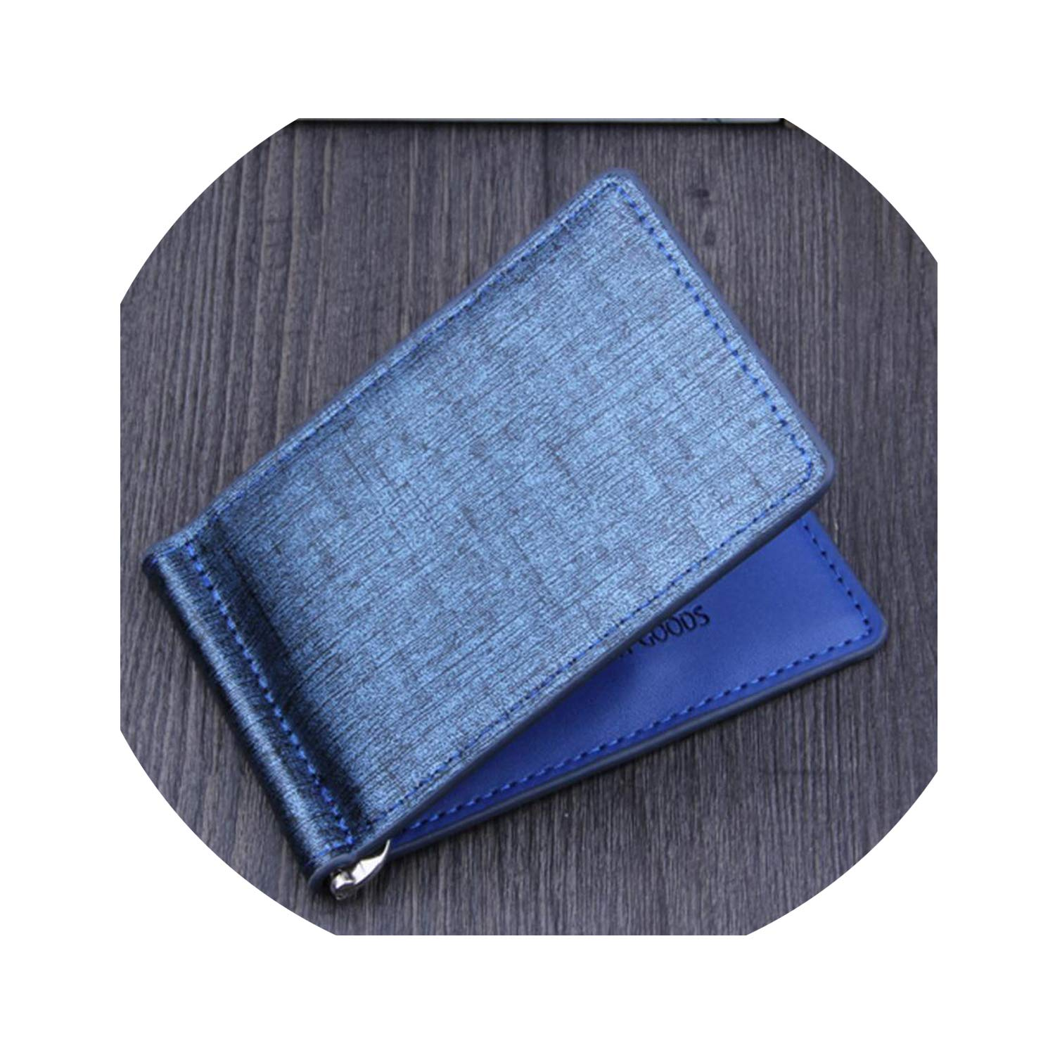 Men Bifold Business Leather Wallet luxury brand famous ID Credit Card visiting cards wallet magic Money Clips