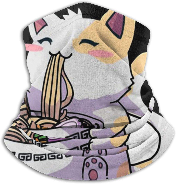 Sturmhaube Fleece-Halsw/ärmer // Schal Anime Kinder Bandanas f/ür M/änner Halstuch Radfahren Eating Ramen Skifahren verstellbare Winter-Ski-Gesichtsmaske Laufen Katze Kawaii Frauen