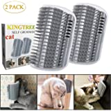Kingtree 2 PCS Cat Self Groomer, Cats Corner Groomer Wall Corner Massage Comb Grooming Brush Perfect Massager Tool for…