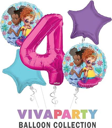 Amazon.com: Ramo de globos de feliz cumpleaños Fancy Nancy ...