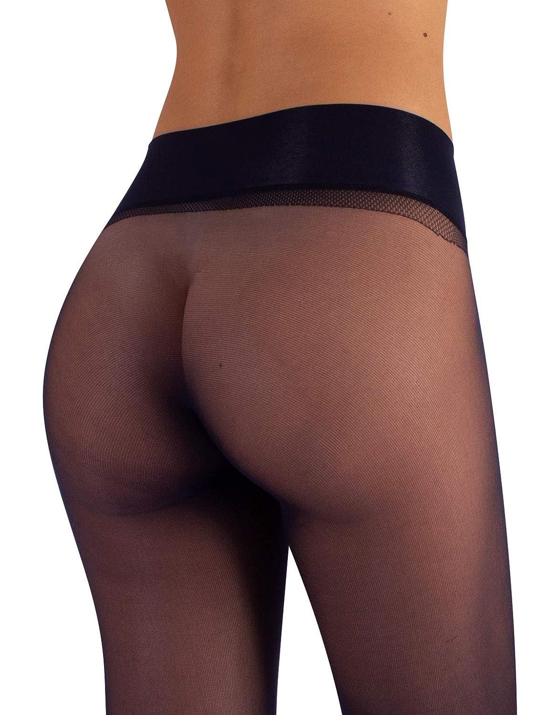 L//XL Nero S M//L CALZITALY Collant Donna Velati senza Cuciture Effetto Nudo e Fantasia a Pois 15 DEN Naturale Blu Made In Italy |