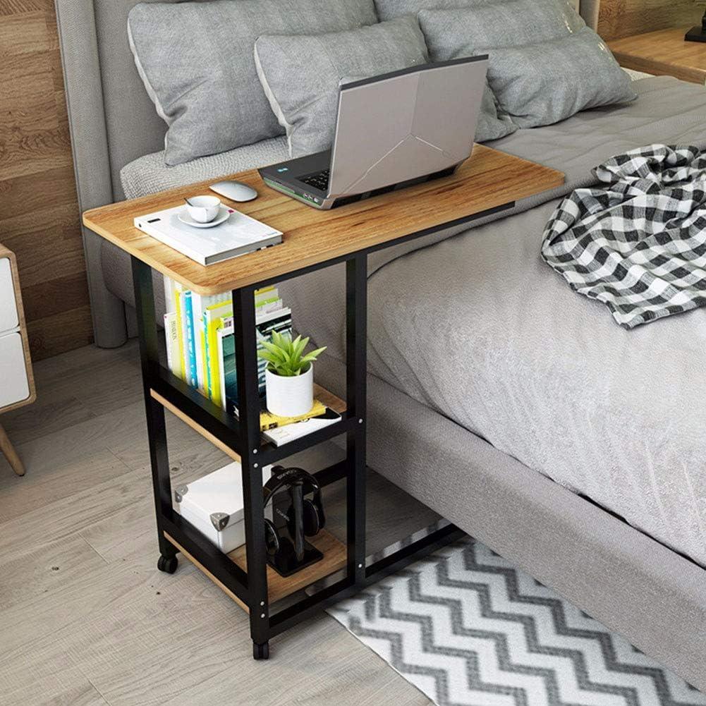 オーバーベッドテーブルとの自由はボトムホイール、C修整表のラップトップホルダー、ポータブルノートブックデスクソファサイドテーブル病院や家庭をスライディング (Color : C)