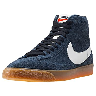 release date: 401d2 d98f9 Nike Womens Blazer Mid Suede Vintage Retro Fashion Sneakers Black 6 Medium  (B,M