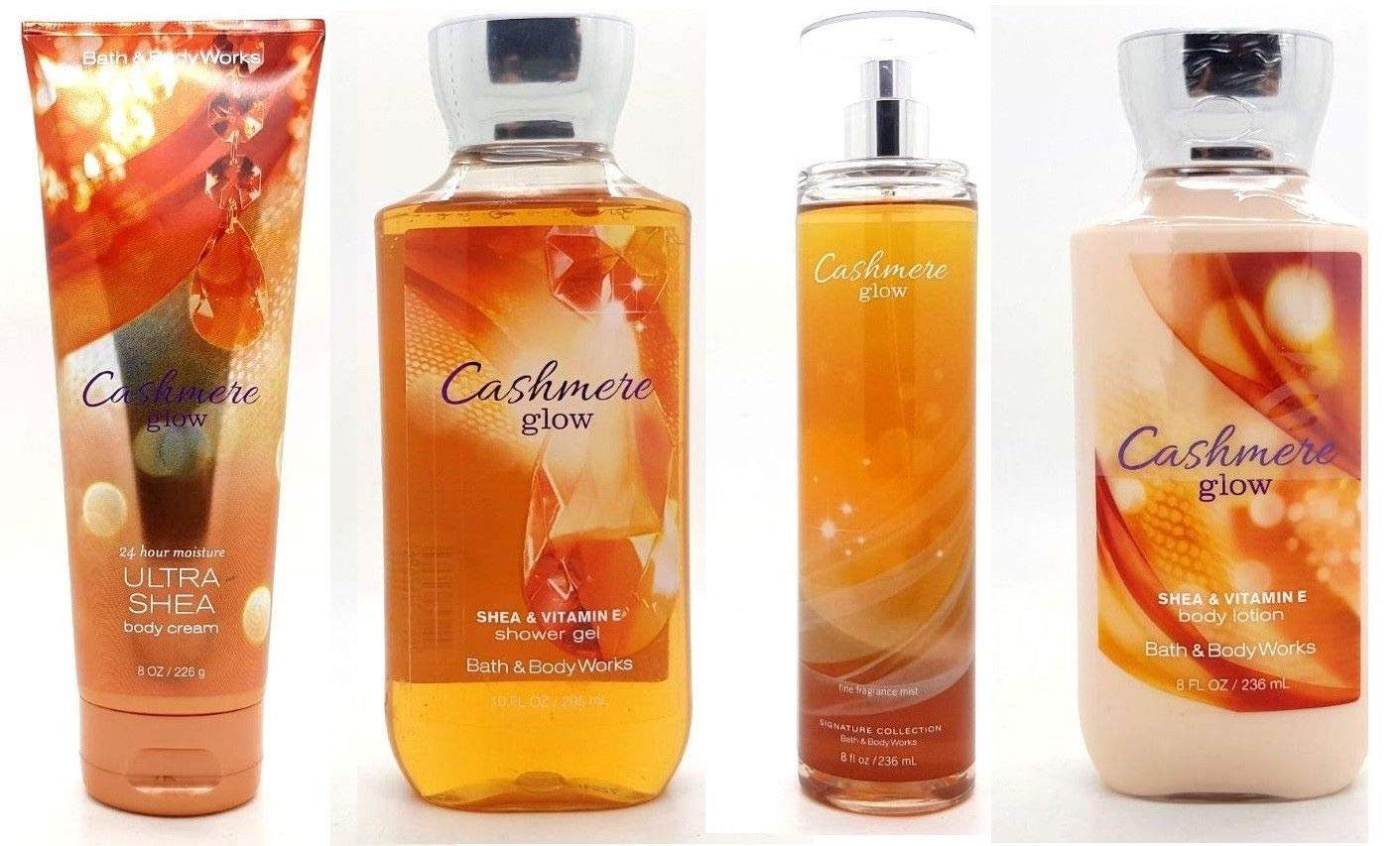 Cashmere Glow Gift Set - Signature Collection - Bath & Body Works - Body Lotion - Body Cream - Fragrance Mist & Shower Gel Full Size