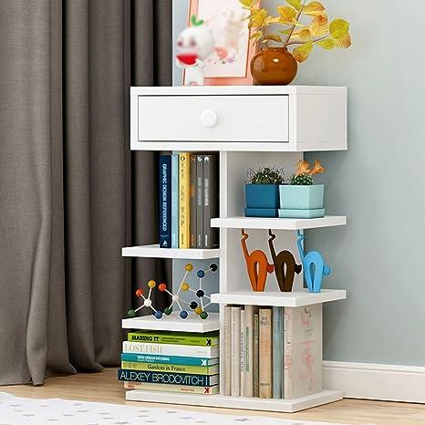 Estante de la revista vertical de madera del estante de la estantería con el estante de exhibición de la estantería de la sala de estar de múltiples capas ...