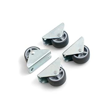 Rueda para muebles (set de 4 unidades) de Design61 (30 x 14 mm), con banda de rodadura suave: Amazon.es: Bricolaje y herramientas