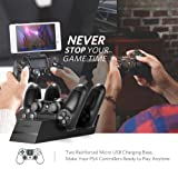 UGREEN PS4 Controller Charger PS4 Charging Station, 2.5 Hours Full Charge for 2 Controllers, DualShock 4 Charger Dock for Playstation Slim, PS4 Pro Controller with AC Adapter 5FT