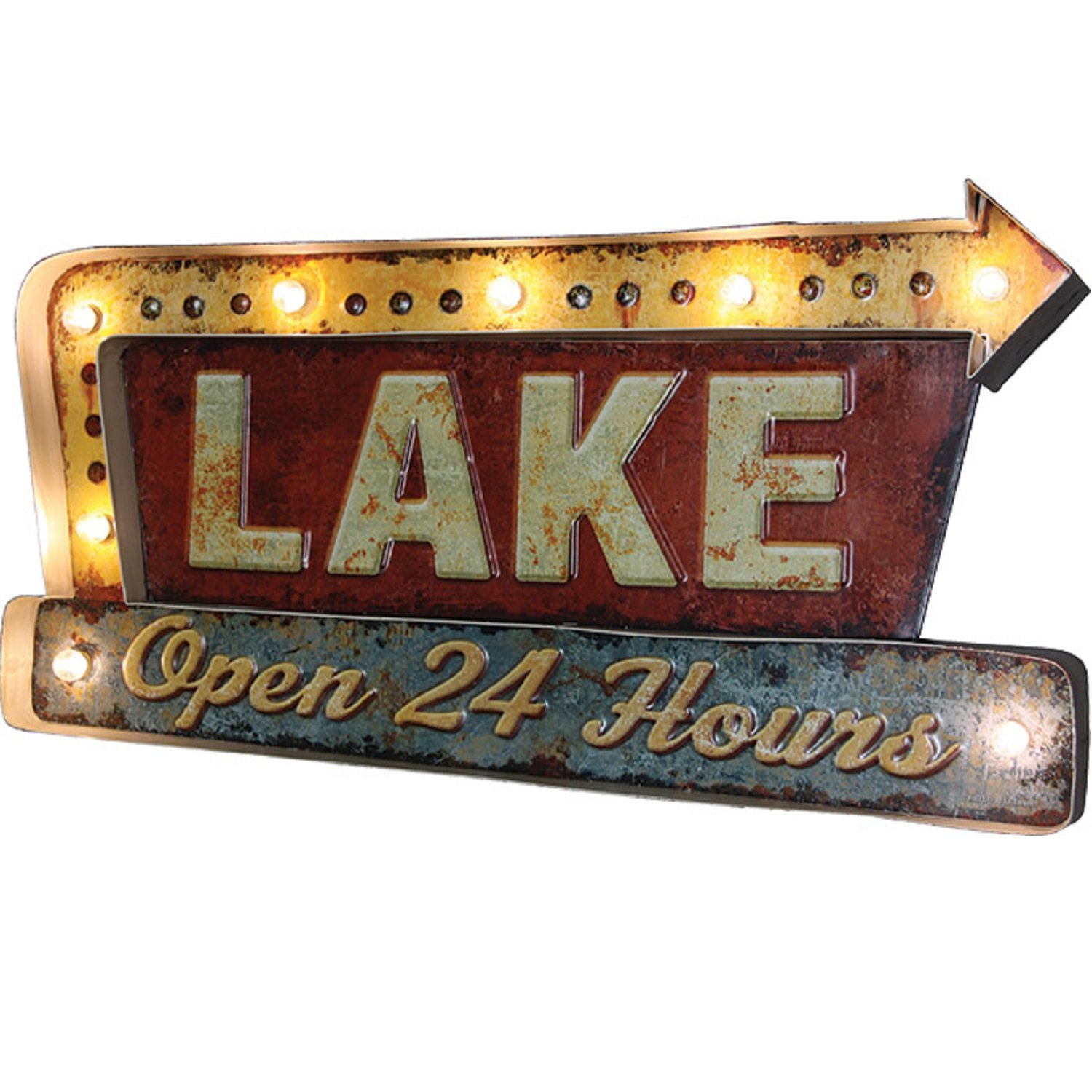 River's Edge Products Lake LED bar Sign