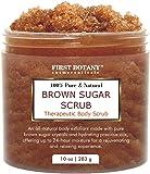 Brown Sugar Natural Body Scrub - 100% Natural Best for Acne, Cellulite Cream/Scrub and Stretch Mark treatment, Moisturizer, Face Scrub 10 oz