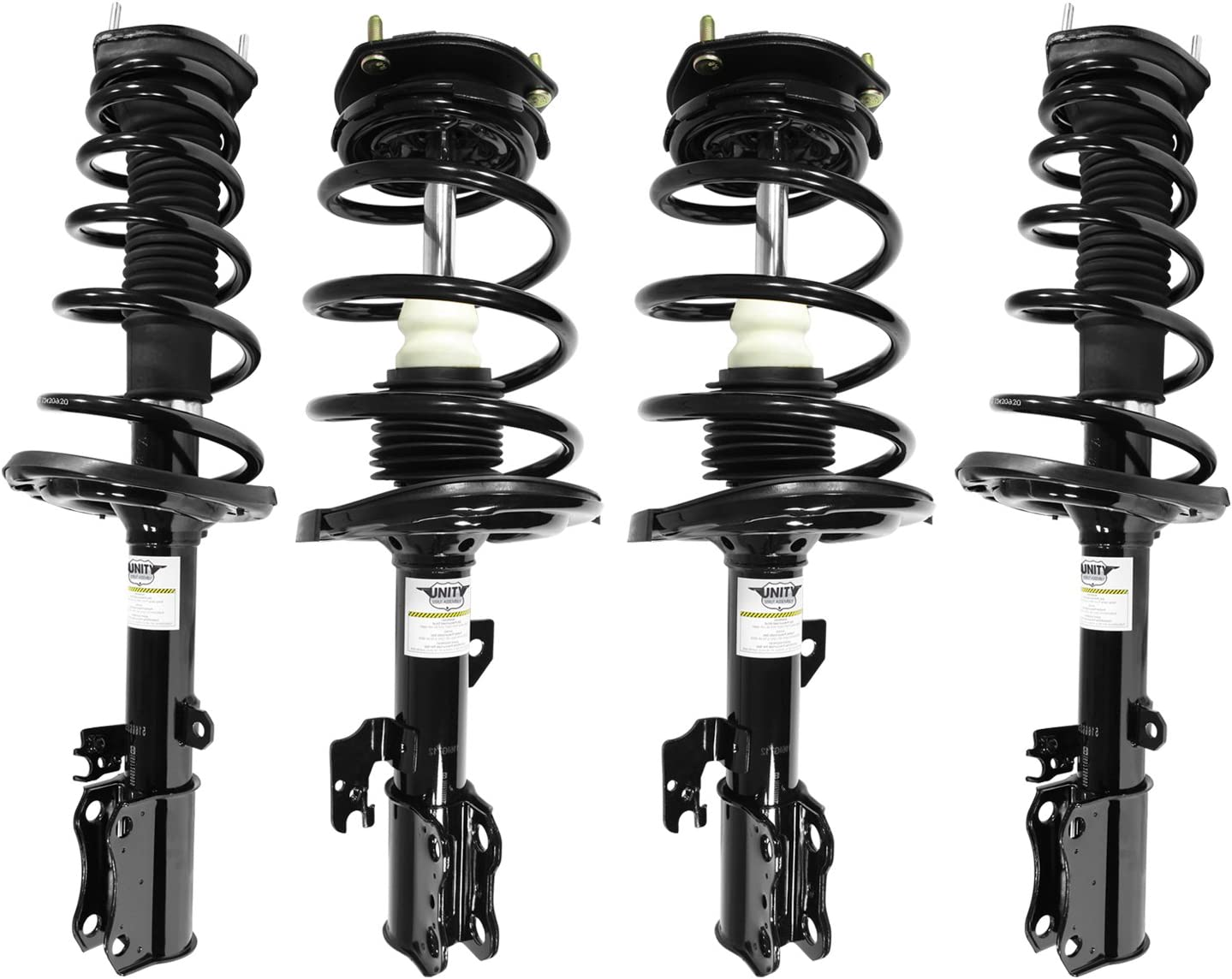 Unity Automotive 2-15351-15352-001 Quick Complete Rear Pair, Spring, and Strut Mount Assembly Kit