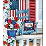 Patriotic Porch Magnetic Dishwasher Cover, Multi, Magnet, Paper