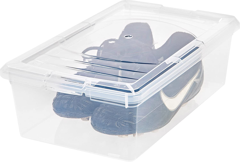 Amazoncom IRIS Clear Modular Shoe Box 6 QT 12 Pack Home Kitchen