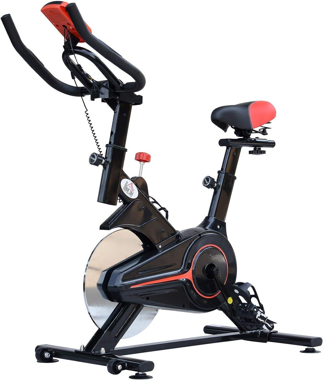 HOMCOM Bicicleta estática Cardio Biking Pantalla Multifunción ...