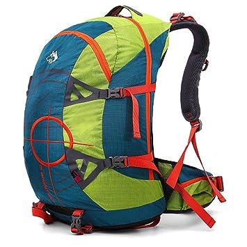 Mochila de senderismo y aventura para adultos profesionales 50L, con protector de lluvia para viajes