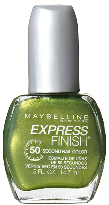 Go Green Express >> Maybelline New York Express Finish 50 Second Nail Color Go Go Green 900 0 5 Fluid Ounce