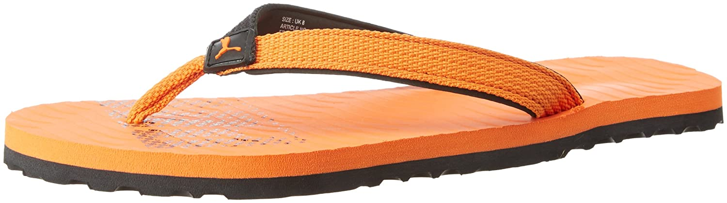 3ad000f90b9ed0 Puma Unisex Miami Fashion II Idp Black and Vibrant Orange Flip Flops Thong  Sandals - 10 UK India (44.5 EU)  Buy Online at Low Prices in India -  Amazon.in