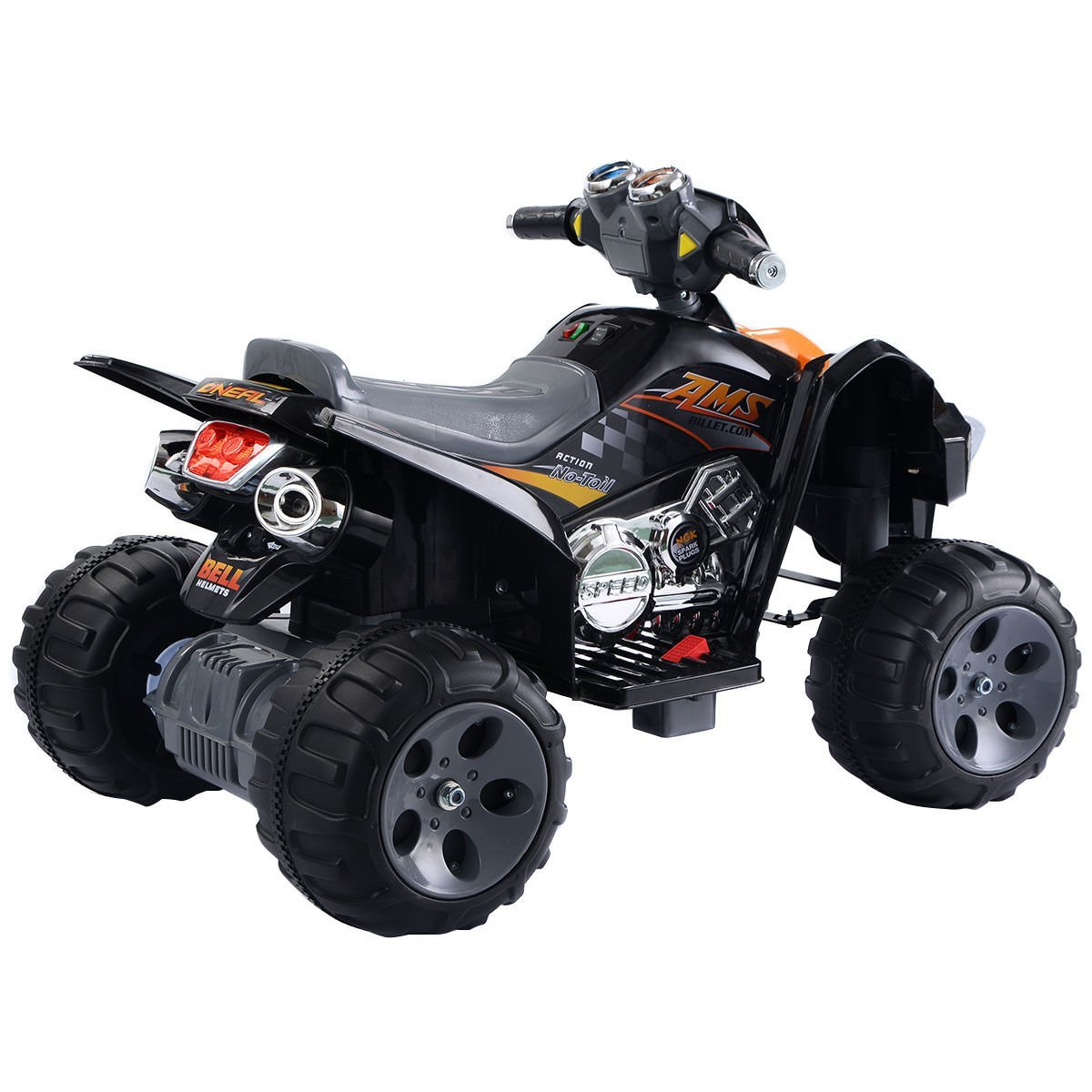 Amazon com giantex kids ride on atv quad 4 wheeler electric toy car 12v battery power black toys games