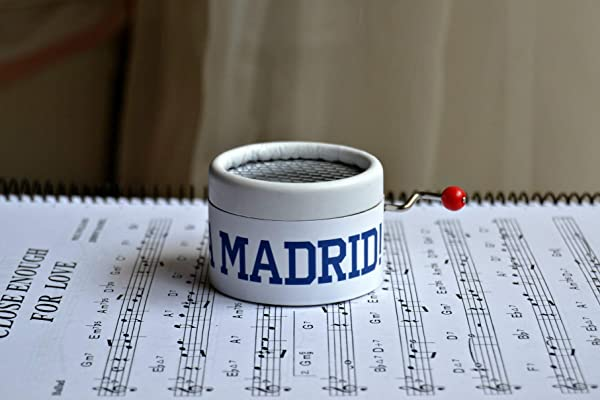 Real Madrid music box with the motto