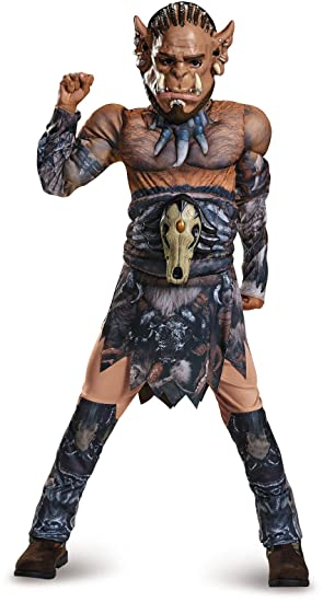 Legendary World of Warcraft Durotan Child Costume Boys Orc Muscle Jumpsuit Mask  sc 1 st  Amazon.com : wow skeleton costume  - Germanpascual.Com