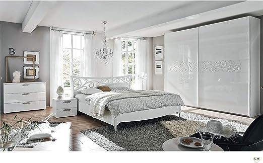 Livy Blanc Ensemble Chambre A Coucher Design Amazon Fr Cuisine