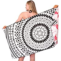 Sand Free Travel Beach Towel Blanket-Quick Fast Dry Super Absorbent Lightweight Thin Microfiber Towels for Pool Swimming…