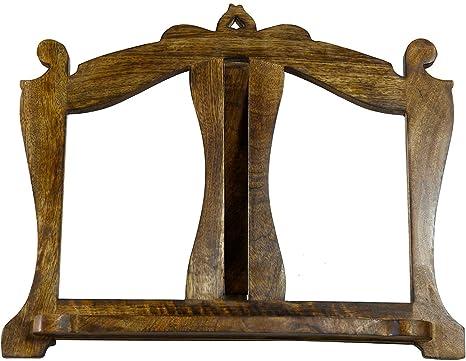Leggio da appoggio in legno finitura noce L46xPR6xH37 cm: Amazon.it ...