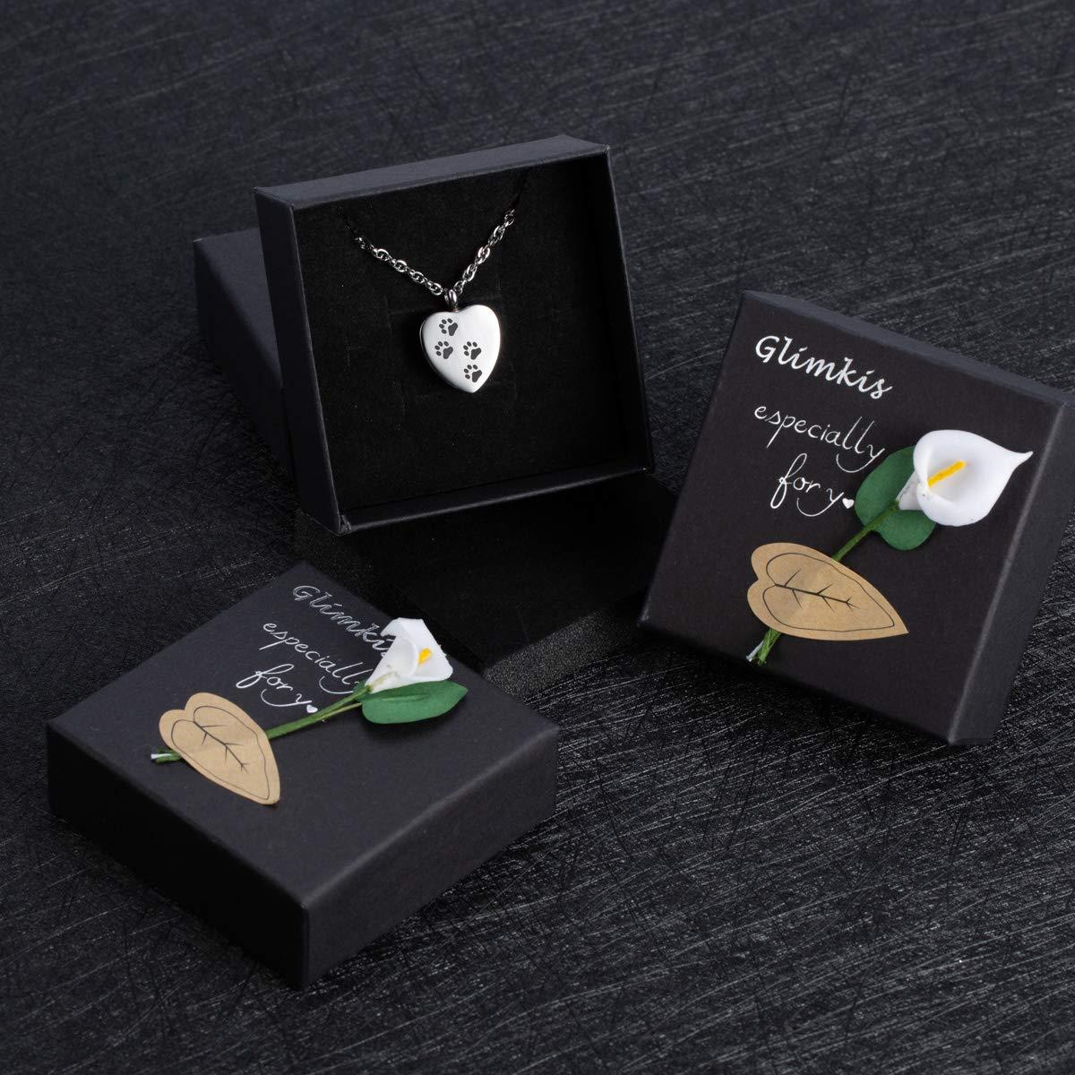 Cremation Ashe Jewelry Pet urn Necklace for Ashes Dog Paw Memorial Ash Keepsake Creamtion Urn Pendant