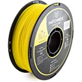 HATCHBOX 3D ABS-1KG1.75-YLW ABS 3D Printer Filament, Dimensional Accuracy +/- 0.05 mm, 1 kg Spool, 1.75 mm, Yellow