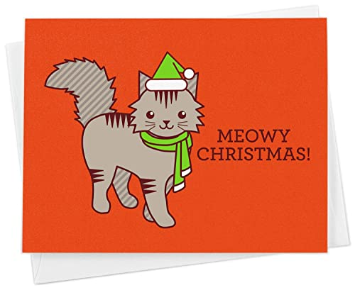 Cat Themed Card by Tracks Cards Blank inside for own message.