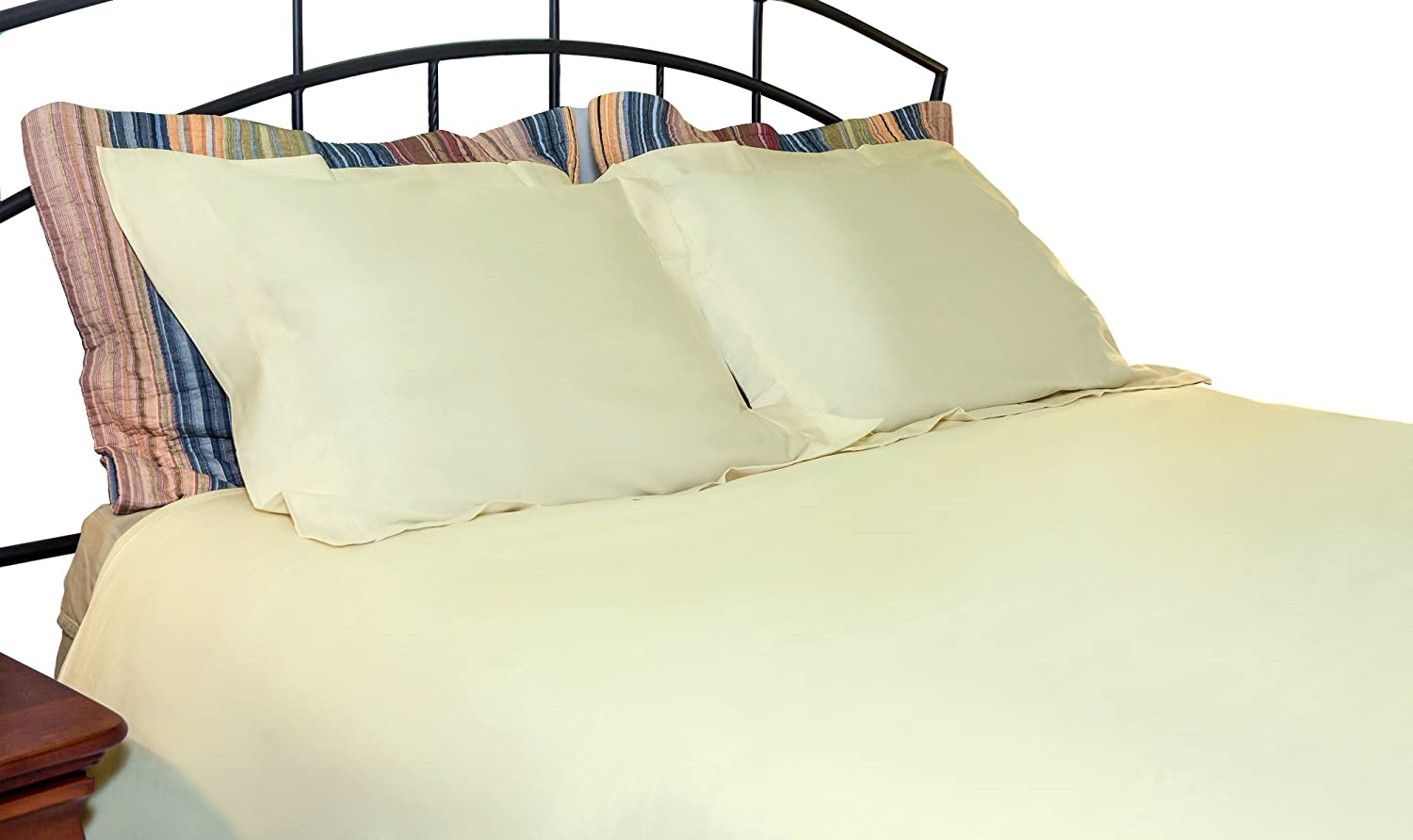 Organic Cotton Duvet Covers Set by Whisper Organics - G.O.T.S. Certified, 500 Thread Count (Full/Queen, White)