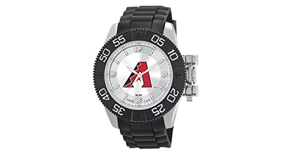 bdb058adbbb Game Time Men's 'Beast' Quartz Metal and Polyurethane Casual Watch,  Color:Black (Model: MLB-BEA-ARI)