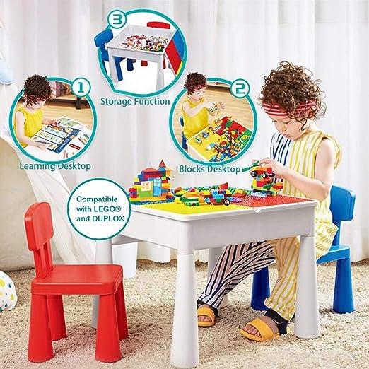KUBLO Kids - Juego de Mesa y 2 sillas Multiusos 5 en 1 para ...