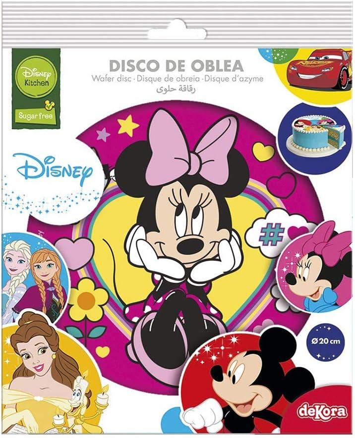 Oblea de Tarta con Dise/ño Oficial de Minnie Mouse 20cm