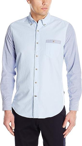 Nautica - Camisa Oxford de ajuste delgado para hombre - azul ...