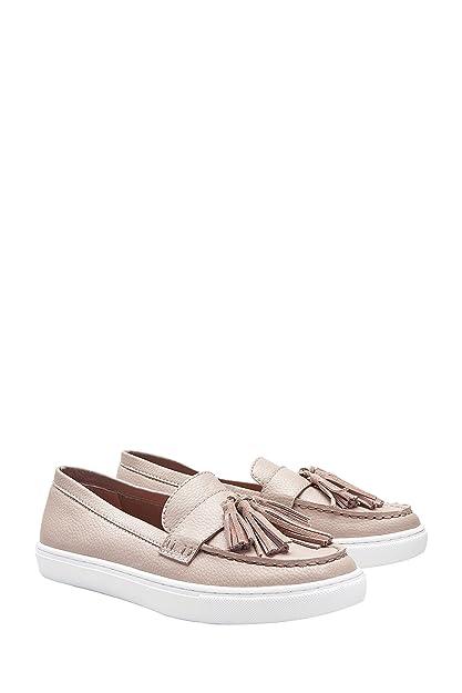 next Mujer Zapatos Zapatillas Estilo Mocasines De Patinadora Adorno De Flecos Suela Gruesa: Amazon.es: Zapatos y complementos