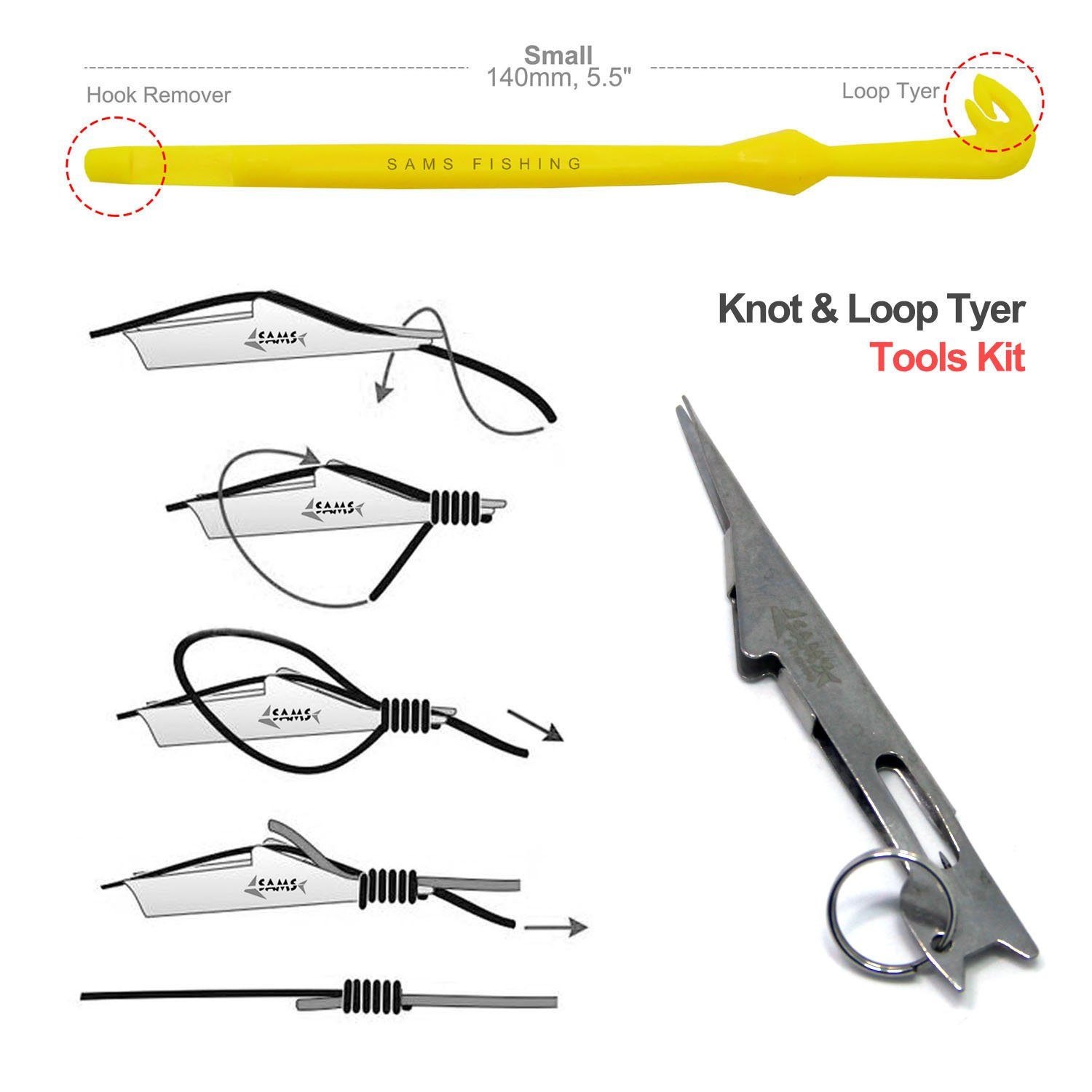 Samsfx tie fast nail knot tyer and loop tying tools kit for Fly fishing knots