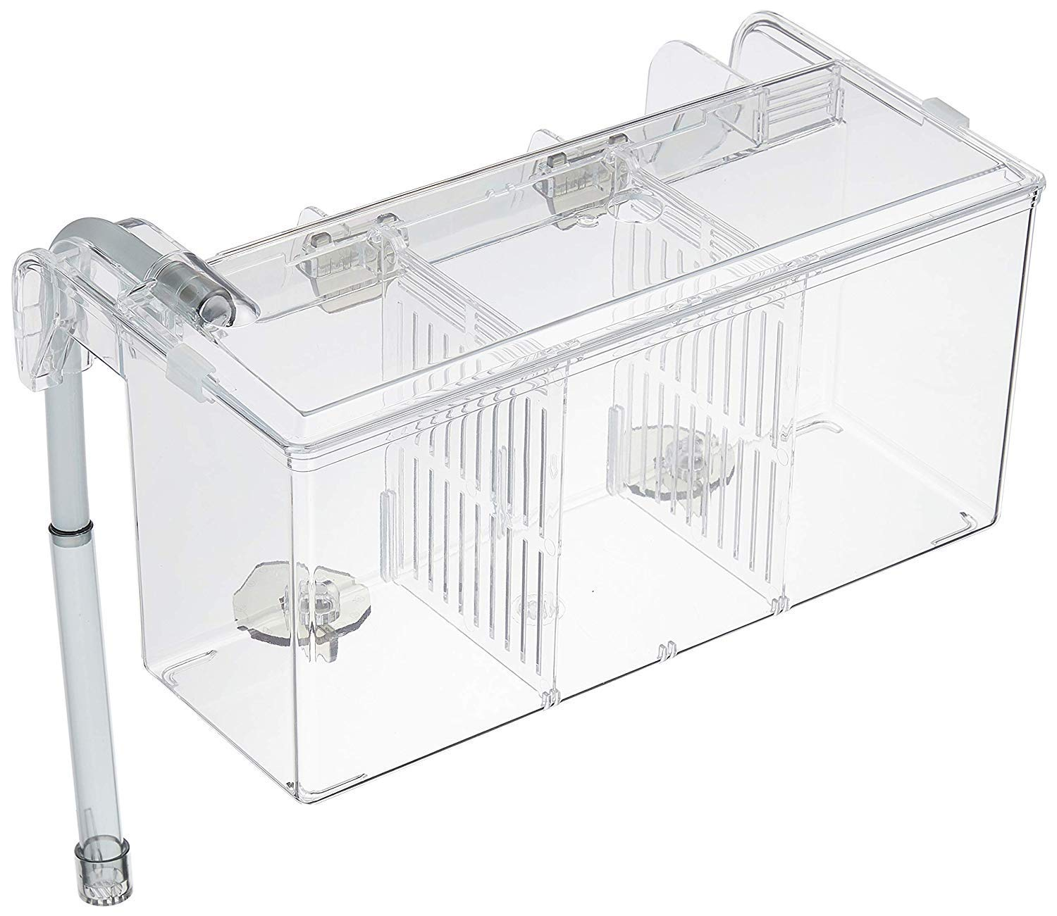 Large Size Aquarium External Hatching Isolation Hang-On Breeding Box (0.8 Gallon)