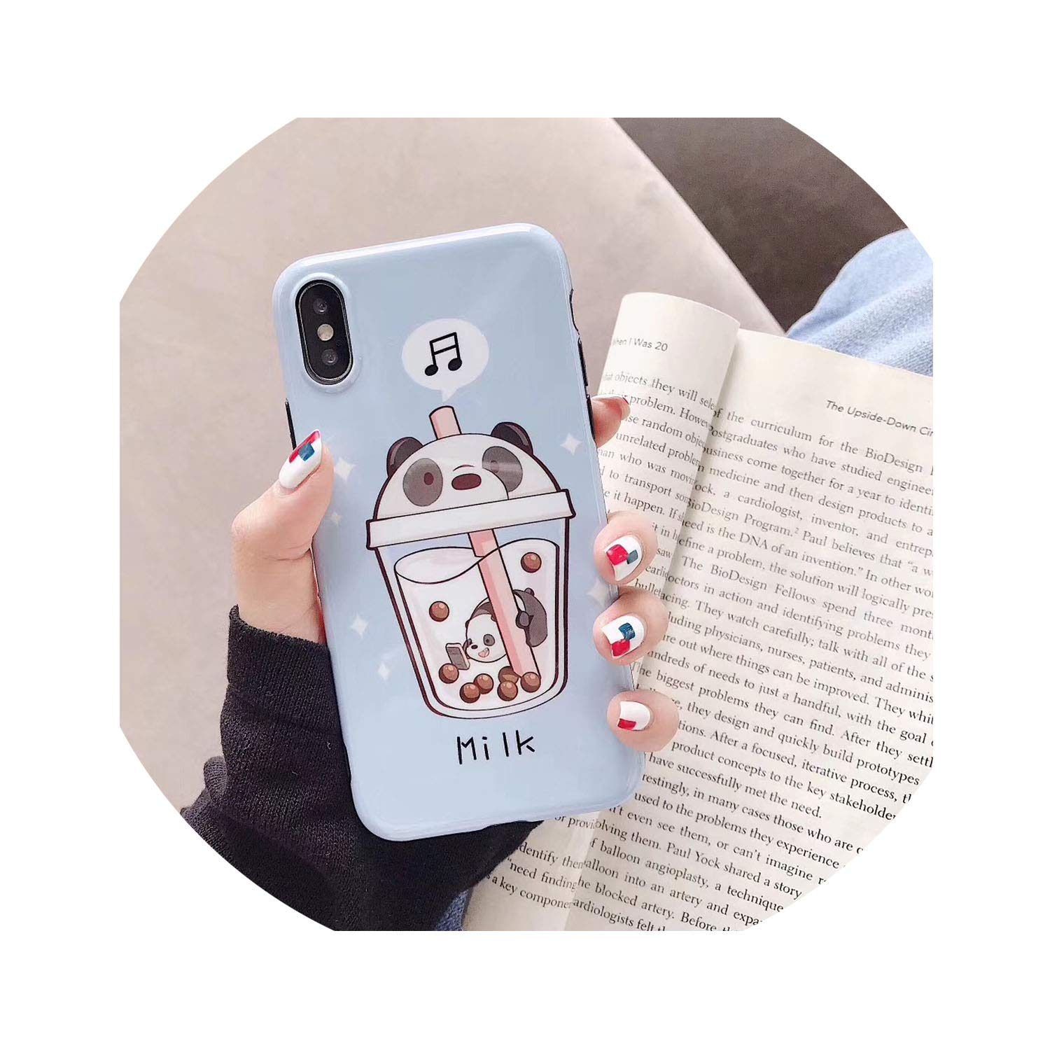 New Cartoon Pearl Milk Tea We Bare Bears Phone Case for iPhone X Xs Max Xr 6 6S 7 8 Plus Fashion Cute Lovers Soft Imd Cover,1,for iPhone 8