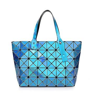 eba7bac06 Messenger Bag Lentejuela Espejo Liso Bolso Plegable Láser Bolso blue:  Amazon.es: Equipaje