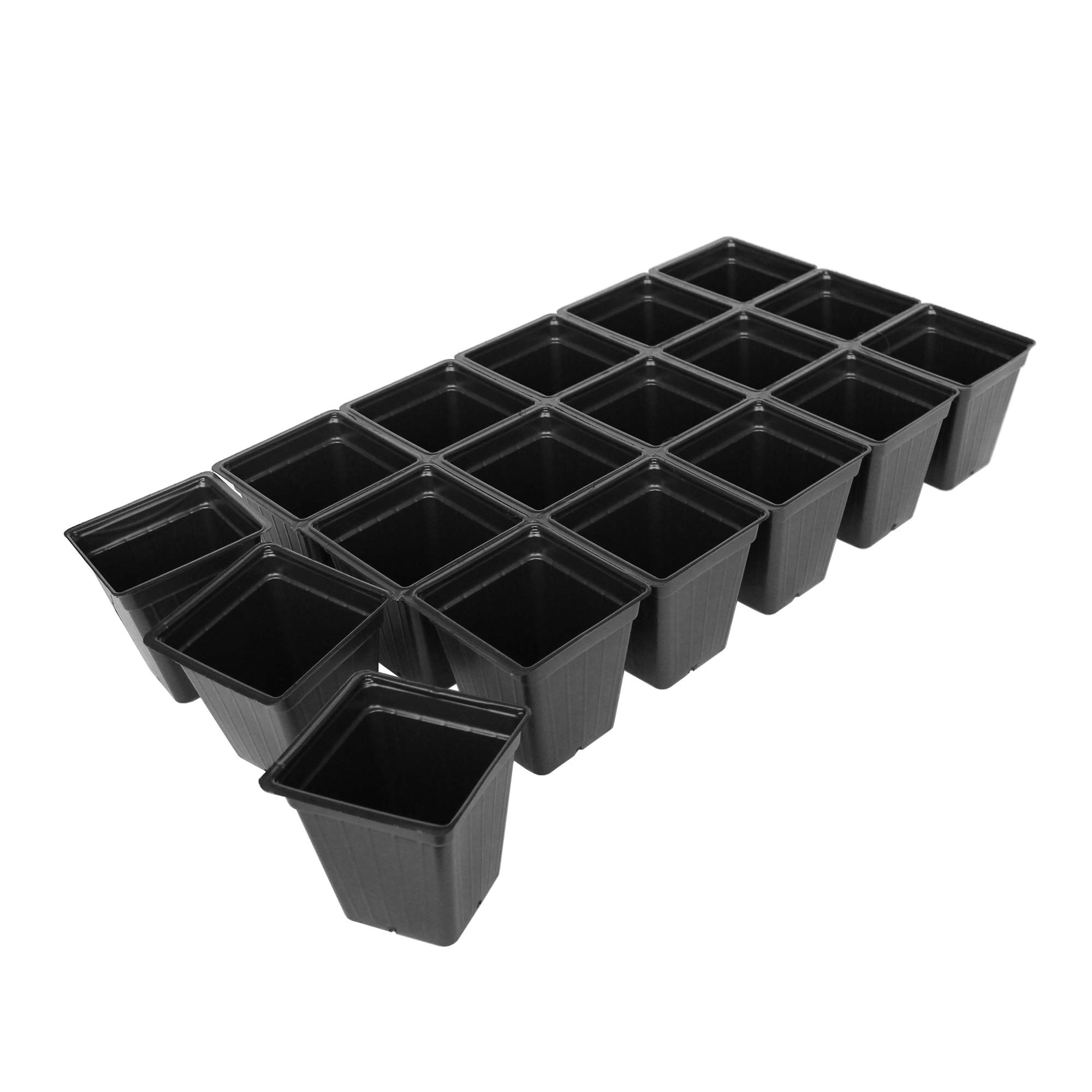 Handy Pantry Black Plastic Garden Tray Inserts - 10 Sheets of 18 Planting Pot Cells Each - 3x6 Configuration - Perforated - Nursery, Greenhouse, Gardening by Handy Pantry