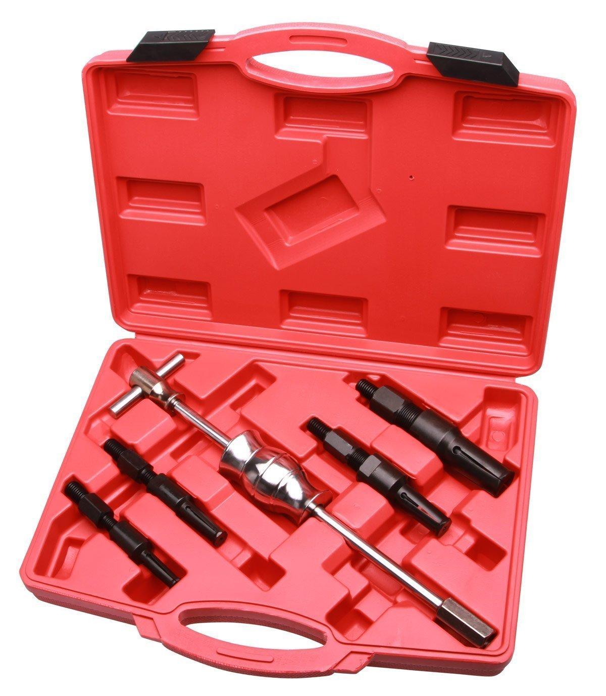 LARS360 - Estrattore cuscinetti, 5 pezzi: 1 martello scorrevole e 4 estrattori, da 10 mm fino a 32 mm