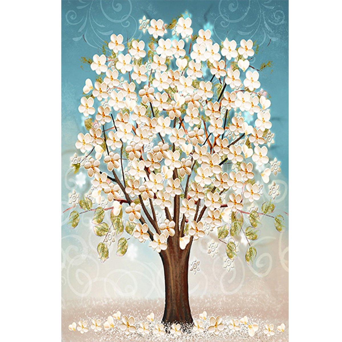 5d Pintura Por Diamantes (itm26072) Flores