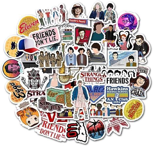 Top Stickers! Juego de 50 Pegatinas Pequeñas de Stranger Things - Calidad Superior - Vinilos - No Vulgares - Personalización, Scrapbooking: Amazon.es: Hogar