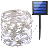 AMIR 72ft 200LED Catena Luminosa Solare, 8 Modalità Luci Decorative Stringa Solari per Outdoor, Giardino, Matrimonio, Festa, Halloween, Natale (Impermeabile IP65)
