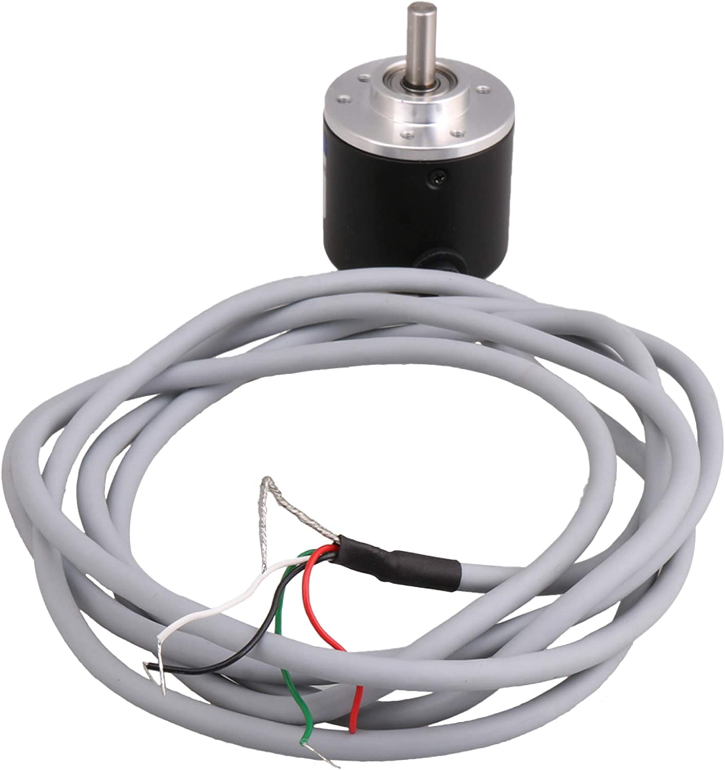 100B Solid Shaft Encoder Stable Aluminum 30Khz 5‑24V DC Durable Compact for 3000-6000 Rpm Office AB Two‑Phase Incremental Encoder