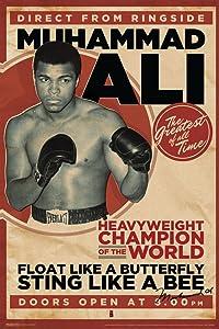 Pyramid America Muhammad Ali Vintage Style Boxing Sports Cool Wall Decor Art Print Poster 12x18